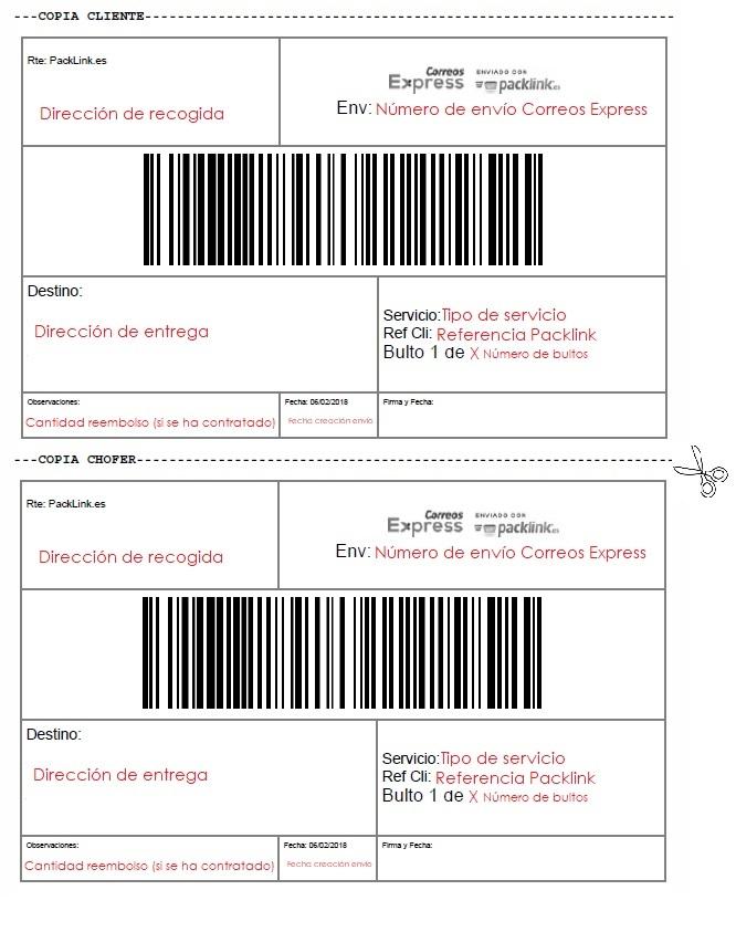 Autorizacion para recoger paquete en correos