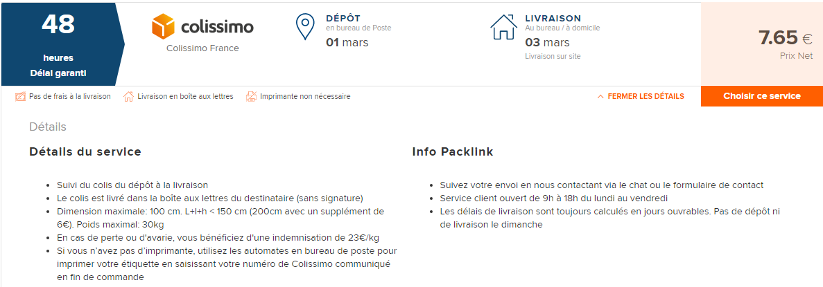 Colissimo Packlink Centre D Aide